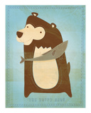 The Happy Bear Posters by John W. Golden