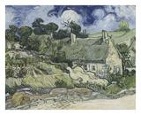 Thatched Cottages in Cordeville Prints by Vincent van Gogh