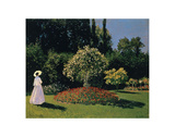 Woman in the Garden, Sainte-Adresse, 1867 Posters by Claude Monet