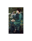The Day Dream, 1880 Plakater av Dante Gabriel Rossetti