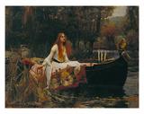 La dama de Shallot, 1888 Pósters por John William Waterhouse