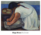 The Grinder (la molendera), 1926 Prints by Diego Rivera
