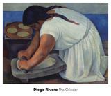 The Grinder (la molendera), 1926 Láminas por Rivera, Diego