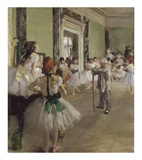 The Dance Class, ca. 1873-1876 Prints by Edgar Degas