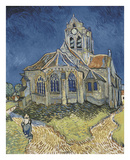 The Church at Auvers Print by Vincent van Gogh