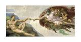 The Creation of Adam Giclée-tryk af Michelangelo