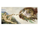 The Creation of Adam Poster by  Michelangelo