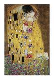 Kysset Giclée-tryk af Gustav Klimt