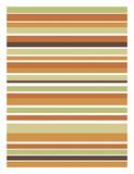 Terracotta Stripes Art by Denise Duplock