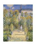 The Artist's Garden at Vetheuil, 1880 Poster by Claude Monet