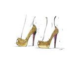 The Golden Heels Prints by Jessica Durrant