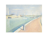 The Channel of Gravelines, Petit Fort Philippe, 1890 Art by Georges Seurat