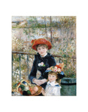 The Two Sisters on the Terrace, 1881 Prints by Pierre-Auguste Renoir