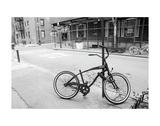 Village Bicycle (b/w) Plakat af Erin Clark