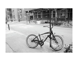Village Bicycle (b/w) Print by Erin Clark