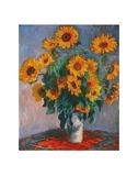 Jarrón de girasoles Láminas por Claude Monet