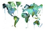 Watercolor Map No. 6 Posters par Jessica Durrant
