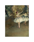 Two Dancers on a Stage Giclee Print by Edgar Degas