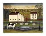 White Farm Print by Diane Ulmer Pedersen