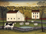 White Farm Prints by Diane Ulmer Pedersen