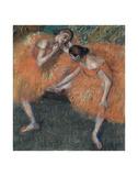 Edgar Degas - Two Dancers, ca. 1898 - Art Print