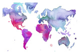 Watercolor Map No. 7 Prints by Jessica Durrant