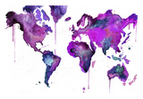 Watercolor Map No. 8 Prints by Jessica Durrant