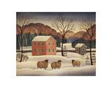 Winter Sheep II Poster van Diane Ulmer Pedersen