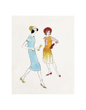 Two Female Fashion Figures, c. 1960 Print by Andy Warhol