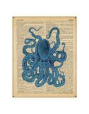 Vintage Octopus Plakater af  Sparx Studio