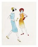 Andy Warhol - Two Female Fashion Figures, c. 1960 Plakát