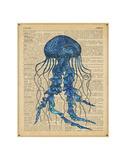 Vintage Jellyfish Posters by  Sparx Studio