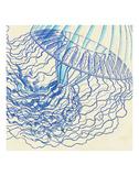 Vintage Jellyfish I Print by  Sparx Studio