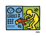 Untitled, 1989 (machine) Posters by Keith Haring