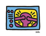 Keith Haring - Untitled, 1987 (TV) - Art Print