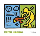 Keith Haring - Untitled, 1989 (machine) Reprodukce