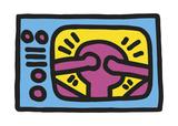 Keith Haring - Untitled, 1987 (TV) Digitálně vytištěná reprodukce