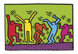 Keith Haring - Untitled, 1987 (dance) - Reprodüksiyon