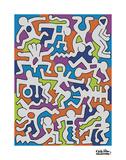 Keith Haring - Untitled (Palladium Backdrop), 1985 - Reprodüksiyon