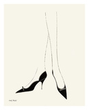Untitled (Pair of Legs in Highheel), c. 1958 Prints by Andy Warhol