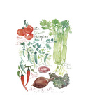 Vegetable Poster Prints by Lucile Prache