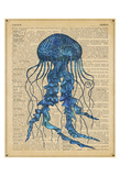 Vintage Jellyfish Art by  Sparx Studio