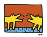 Untitled, 1989 (dogs) Kunst af Keith Haring