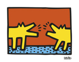 Keith Haring - Untitled, 1989 (dogs) - Art Print