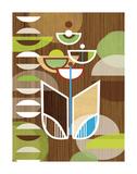 Tulip Motif Poster by Linda Ketelhut