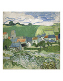 View of Auvers, 1890 Art by Vincent van Gogh