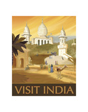Visit India Posters by Kem Mcnair