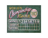 Vintage Baseball (Wold Championship Games) Prints by  Zeke's Antique Signs