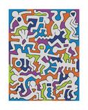 Untitled (Palladium Backdrop), 1985 Lámina giclée por Keith Haring