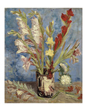 Vase with Gladioli and China Asters, 1886 Posters by Vincent van Gogh